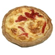 Leek Onion Pepper Swiss Quiche Individual
