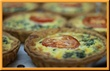 Spinach Tomato Swiss Quiche Mini 1.5""